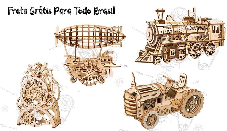 loja de quebra cabeca 3d madeira lua feliz robotime