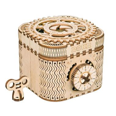 Quebra Cabeça 3D Caixa de Tesouro - Loja Lua Feliz