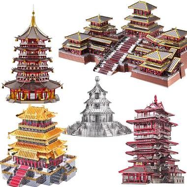 Quebra Cabeça 3D Metal Templos da China - Loja Lua Feliz