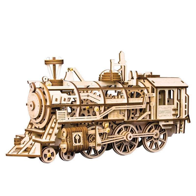 Quebra Cabeça 3D Locomotiva - Loja Lua Feliz